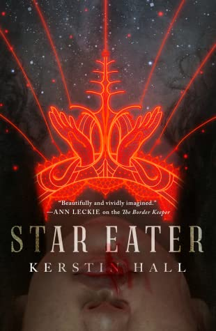 star eater cover art depicting a red neon emblem of hands reaching to the sky