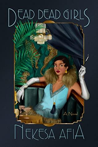 dead dead girls cover art featuring a brown woman in 20s regalia smoking a cigarette in a restaurant