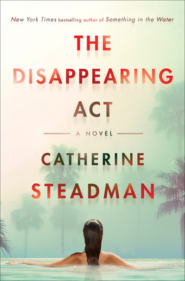 cover of the disappearing act featuring a woman in a pool facing palm trees