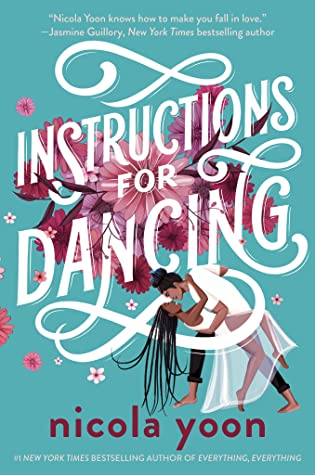 cover art of instructions for dancing depicting a black couple dancing sensually before pink flowers